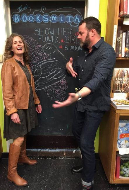 Peg Alford Pursell with Grant Faulkner at The Booksmith in San Francisco
